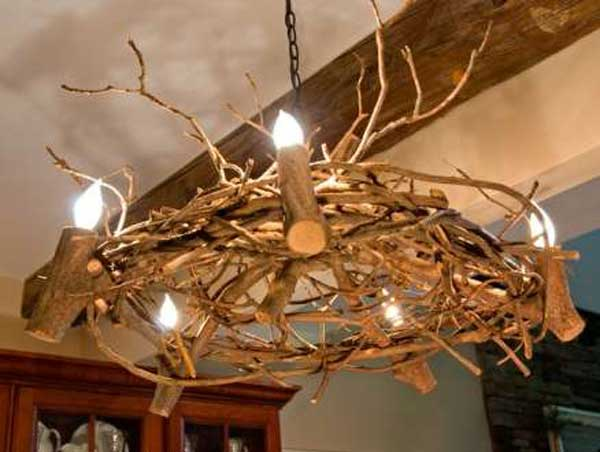 Rustic Tree Branch Chandeliers 8