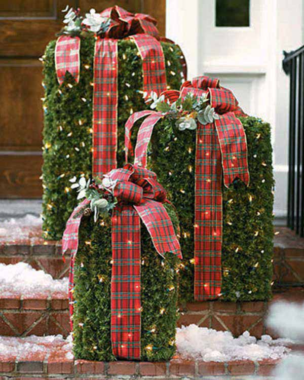 Free Front Yard Landscaping Ideas Christmas Decorating Porch Large Decorations 1000x1362