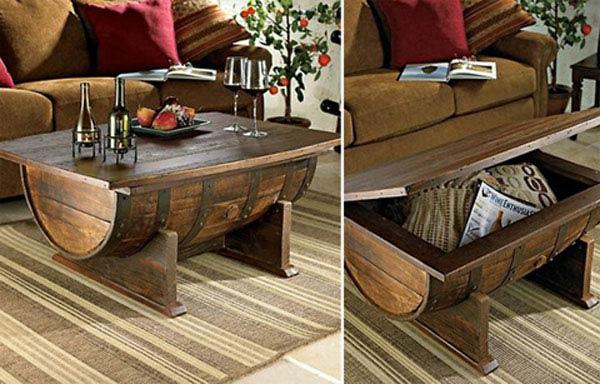 make wine barrel furniture