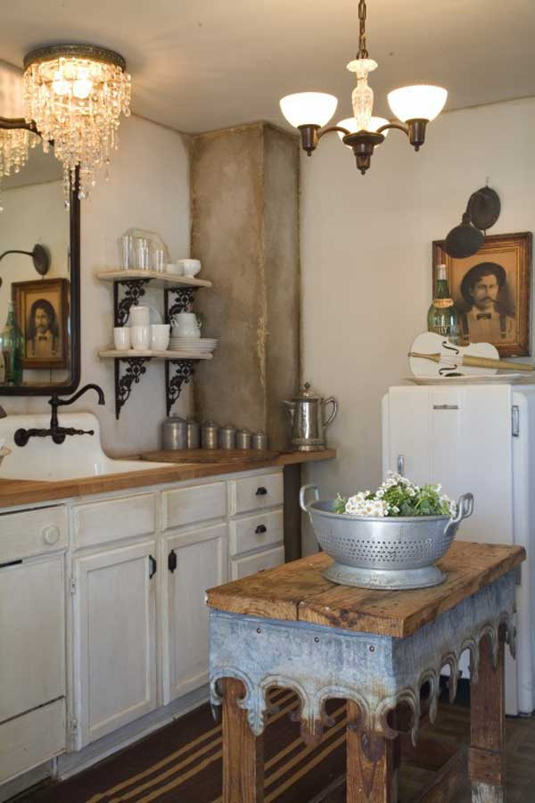 32 Simple Rustic Homemade Kitchen Islands - Amazing DIY ... on Rustic:1Gdhjdx6F3G= Farmhouse Kitchen  id=42947