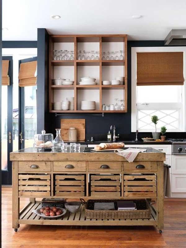 32 Simple Rustic Homemade Kitchen Islands - Amazing DIY ... on Farmhouse:-Xjylc6A2Ec= Rustic Kitchen  id=12324