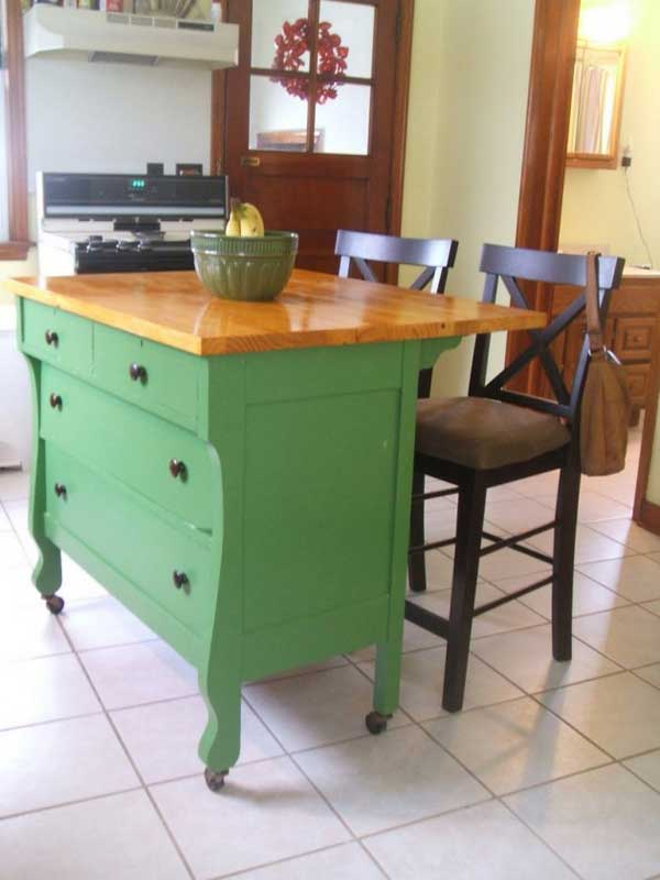 32 Simple Rustic Homemade Kitchen Islands - Amazing DIY ... on Rustic:1Gdhjdx6F3G= Farmhouse Kitchen  id=88384