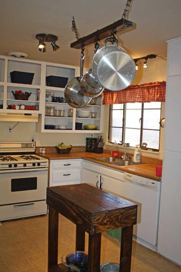 32 Simple Rustic Homemade Kitchen Islands - Amazing DIY ... on Rustic:rkh3E0Gkuju= Farmhouse Kitchen Ideas  id=54190