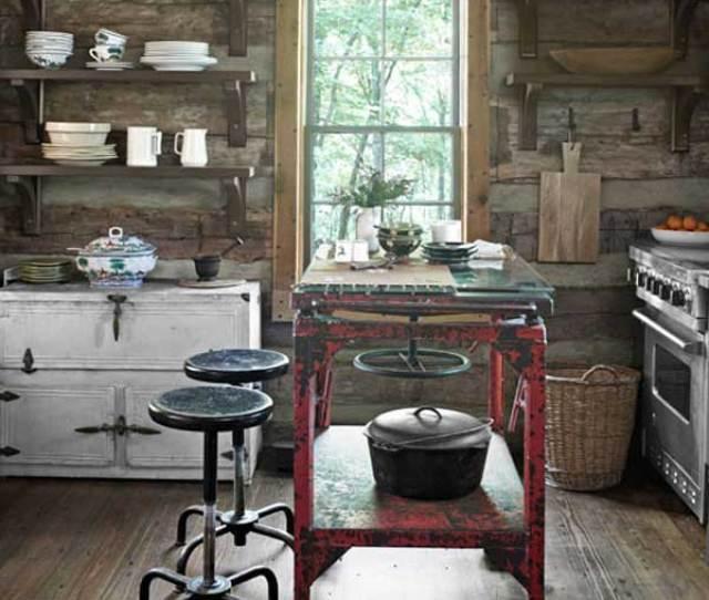 Rustic Homemade Kitchen Islands