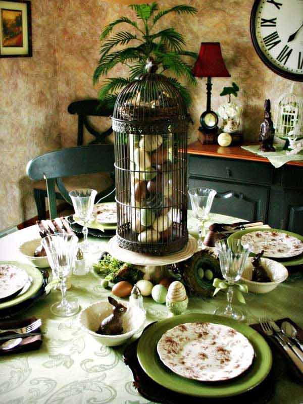 30 Creative Easy DIY Tablescapes Ideas for Easter ... on Small:jdu_Ojl7Plw= Kitchen Remodel Ideas  id=29218