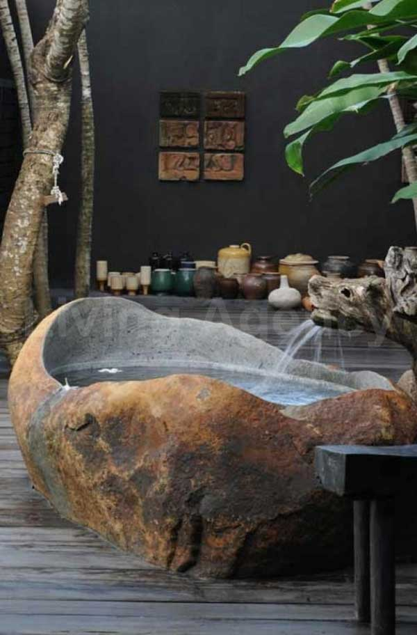 22 Natural Stone Bathtub Ideas for Your Classy Bathroom ... on Contemporary:kkgewzoz5M4= Small Bathroom Ideas  id=38837
