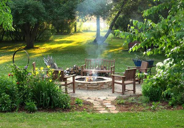 38 Easy and Fun DIY Fire Pit Ideas - Amazing DIY, Interior ... on Garden Ideas With Fire Pit id=54063