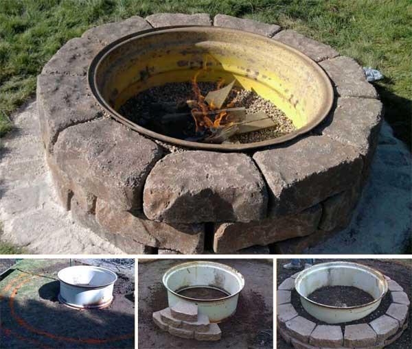 38 Easy and Fun DIY Fire Pit Ideas - Amazing DIY, Interior ... on Backyard Fire Pit Ideas Diy id=51917