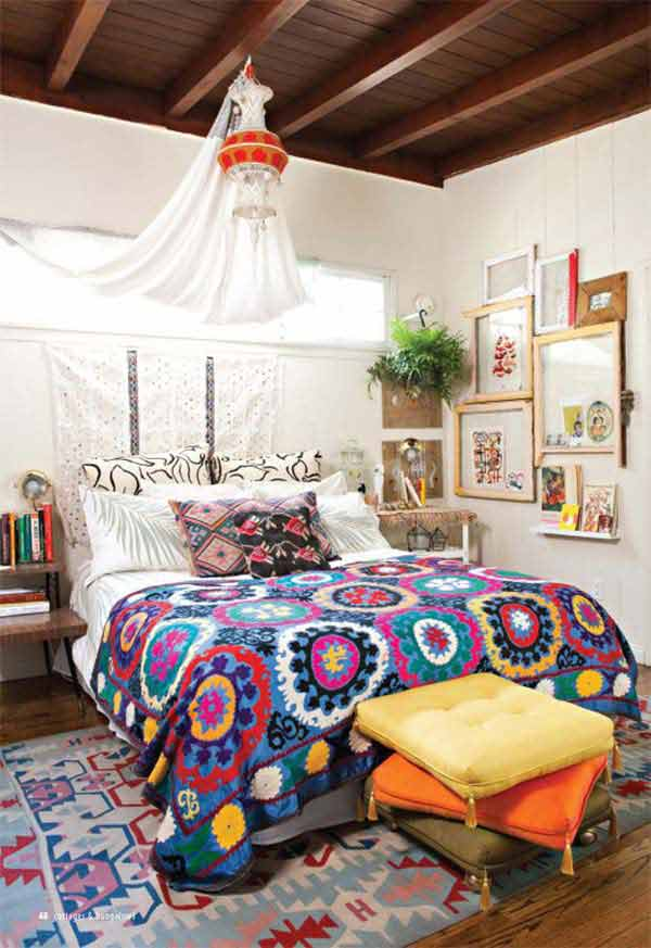 35 Charming Boho-Chic Bedroom Decorating Ideas - Amazing ... on Boho Bedroom  id=32740