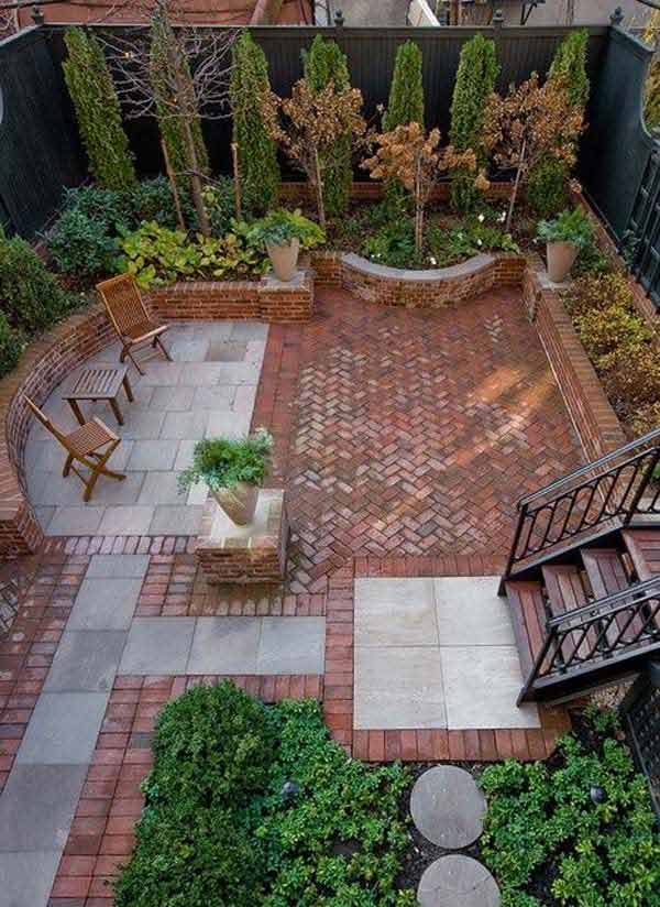 23 Small Backyard Ideas How to Make Them Look Spacious and ... on Back Garden Patio Ideas  id=84952
