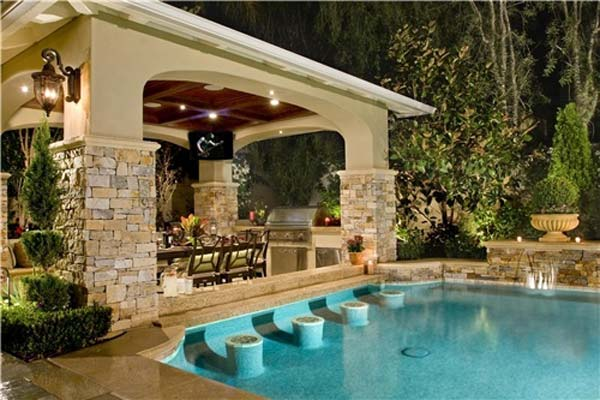 26 Summer Pool Bar Ideas to Impress Your Guests - Amazing ... on Backyard Pool Bar Designs id=77748