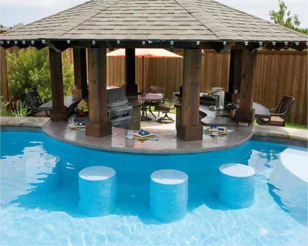 26 Summer Pool Bar Ideas to Impress Your Guests - Amazing ... on Backyard Pool Bar Designs id=26552