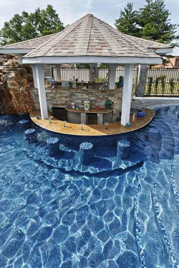 26 Summer Pool Bar Ideas to Impress Your Guests - Amazing ... on Backyard Pool Bar Designs  id=83677