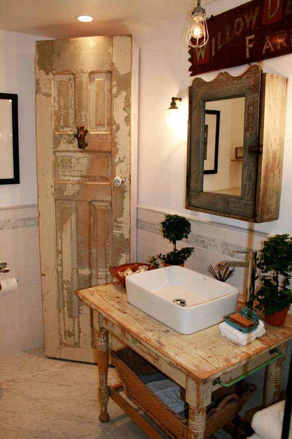 30 Inspiring Rustic Bathroom Ideas for Cozy Home - Amazing ... on Rural Bathroom  id=71792