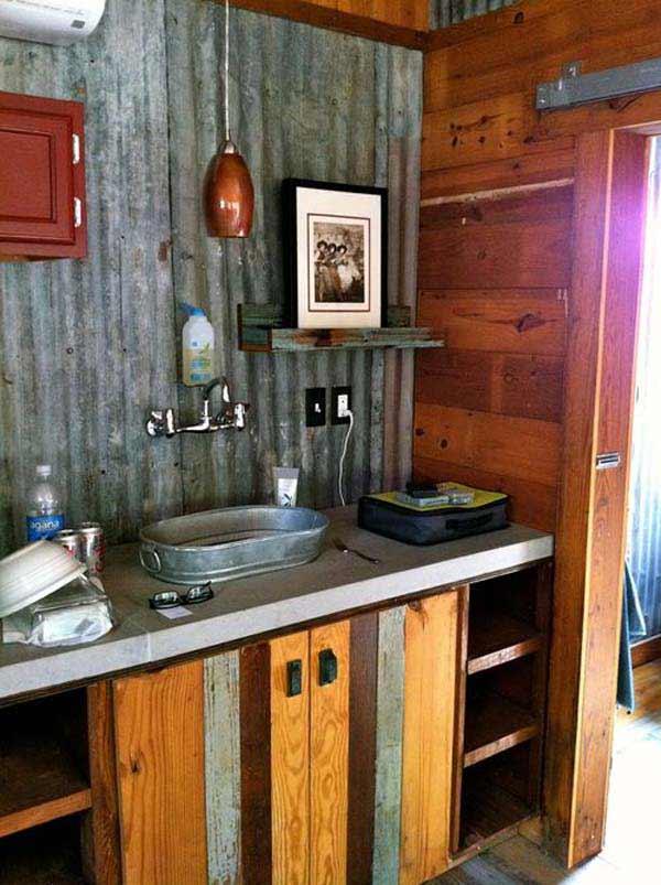 30 Inspiring Rustic Bathroom Ideas for Cozy Home - Amazing ... on Rustic:s9Dkpzirpk8= Farmhouse Bathroom  id=79831