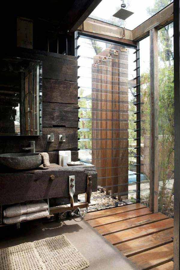 30 Inspiring Rustic Bathroom Ideas for Cozy Home - Amazing ... on Rustic:s9Dkpzirpk8= Farmhouse Bathroom  id=37122