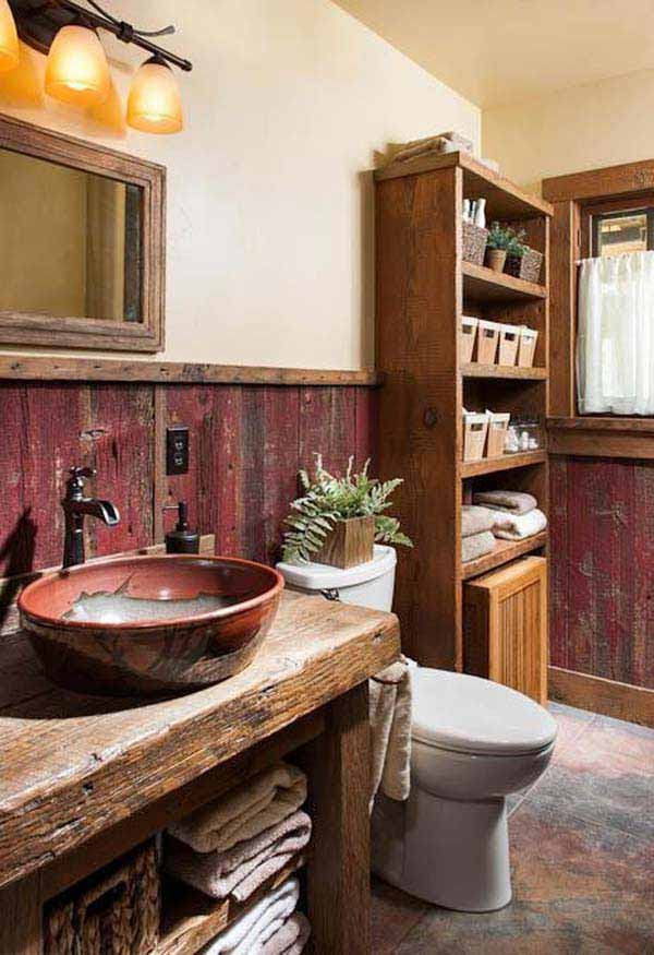 30 inspiring rustic bathroom ideas for cozy home amazing on rustic bathroom designs photos id=32102