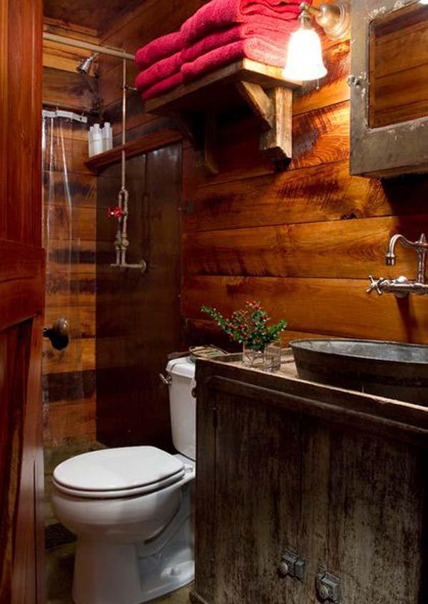 30 Inspiring Rustic Bathroom Ideas for Cozy Home - Amazing ... on Rustic:s9Dkpzirpk8= Farmhouse Bathroom  id=81795