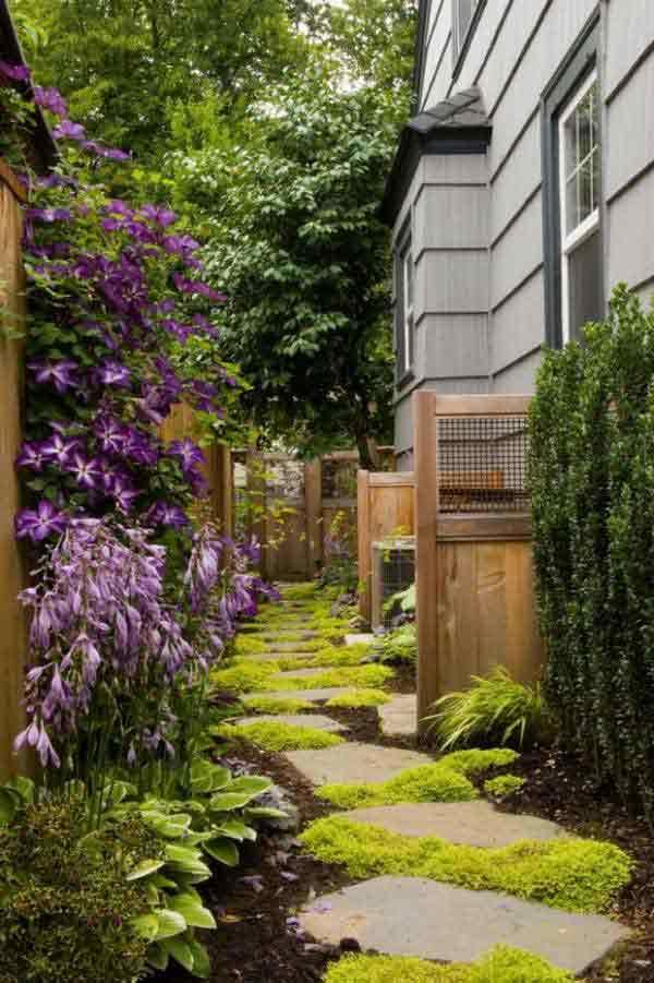 41 Inspiring Ideas For A Charming Garden Path - Amazing ... on Side Yard Walkway Ideas id=96523