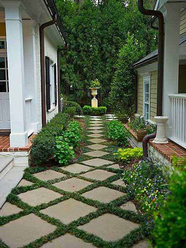 41 Inspiring Ideas For A Charming Garden Path - Amazing ... on Side Yard Walkway Ideas  id=48863