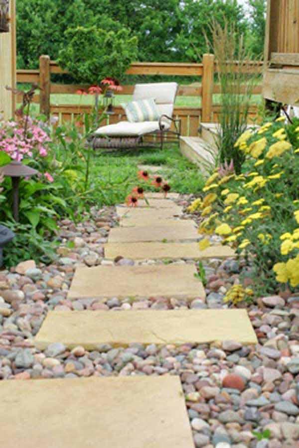 41 Inspiring Ideas For A Charming Garden Path - Amazing ... on Backyard Walkway Ideas id=48753