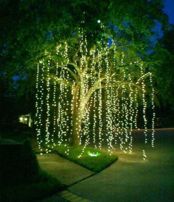 Top 46 Outdoor Christmas Lighting Ideas Illuminate The ... on Patio Decorating Ideas With Lights  id=37565