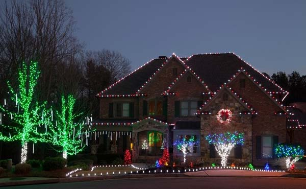 Exterior Cool Outdoor Christmas Decorations Ideas Simple Silver Lights Outdoors Tea Rooms Installation Tips Pantry Design Home Office