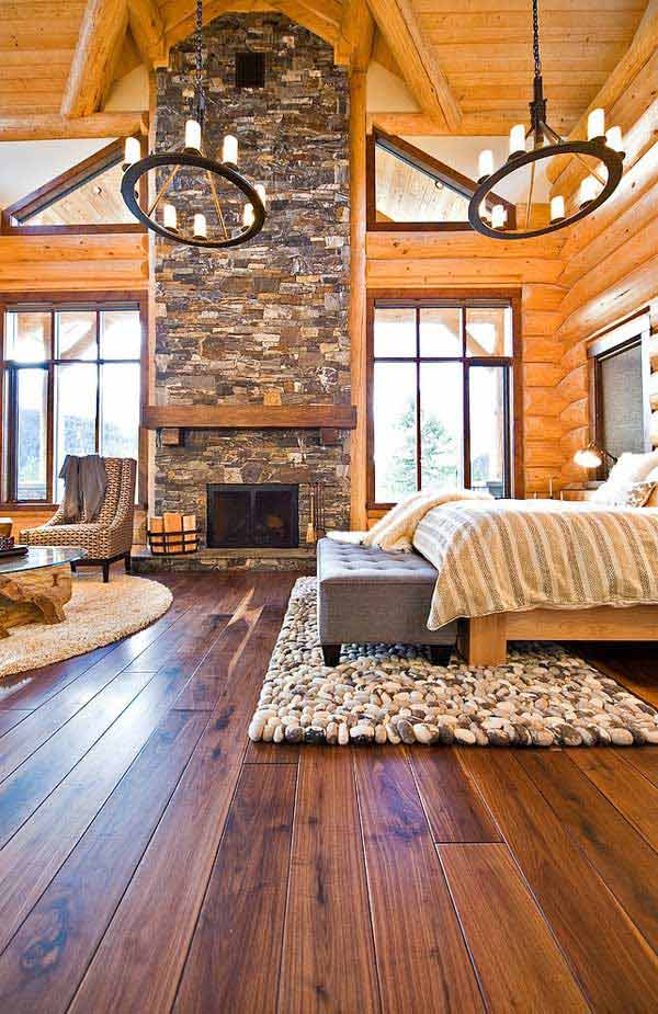 22 Inspiring Rustic Bedroom Designs For This Winter ... on Pictures For Room Decor  id=34867