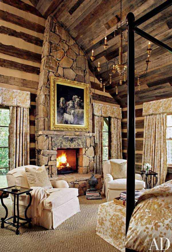 22 Inspiring Rustic Bedroom Designs For This Winter ... on Cheap:l2Opoiauzas= Bedroom Ideas  id=68302