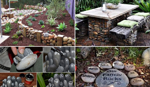 26 Fabulous Garden Decorating Ideas with Rocks and Stones ... on Rock Decorating Ideas  id=71782