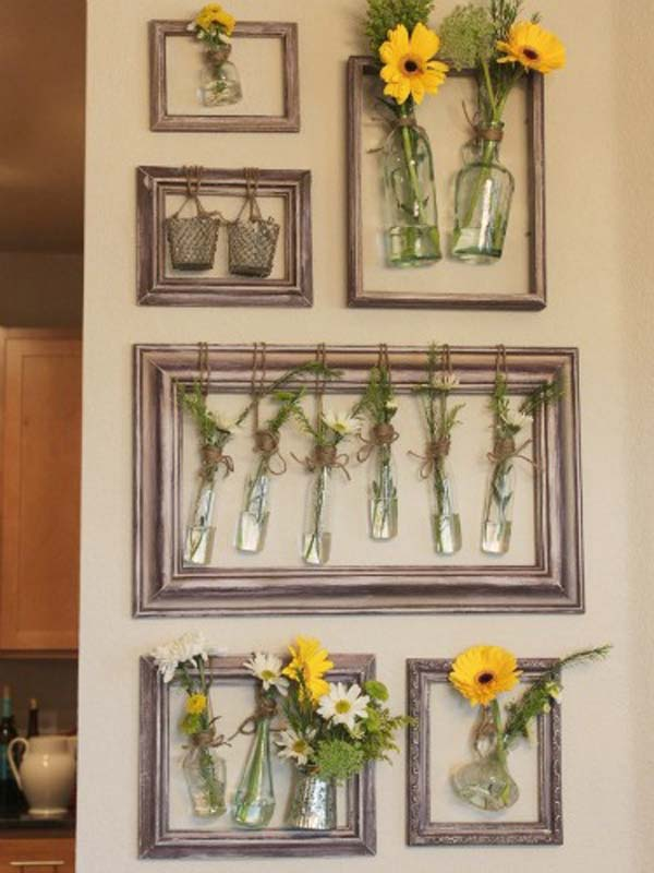 36 Easy and Beautiful DIY Projects For Home Decorating You ... on Picture Hanging Idea  id=51499