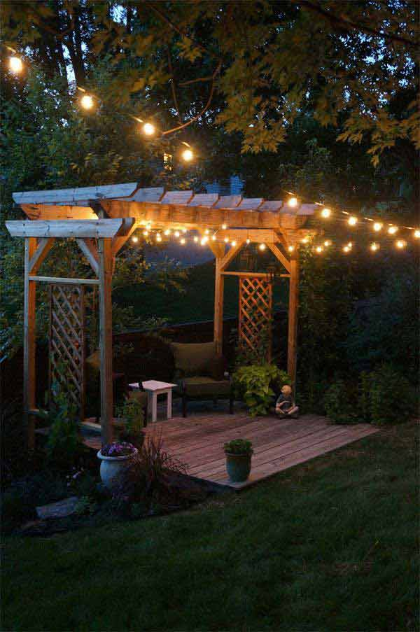 26 Breathtaking Yard and Patio String lighting Ideas Will ... on Backyard String Light Designs id=81166