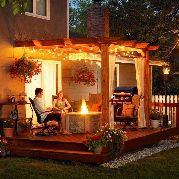26 Breathtaking Yard and Patio String lighting Ideas Will ... on Backyard String Light Designs id=88470