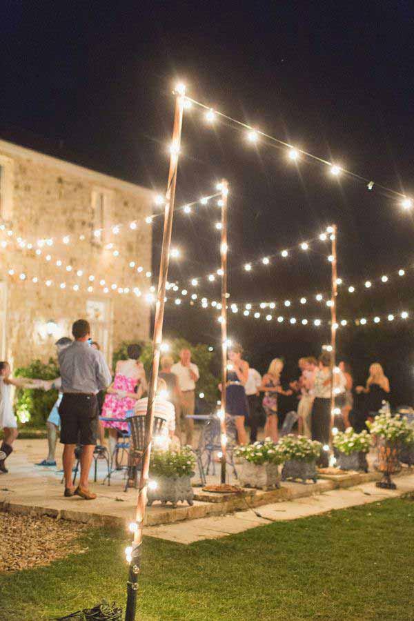 26 Breathtaking Yard and Patio String lighting Ideas Will ... on Backyard String Light Designs id=39035