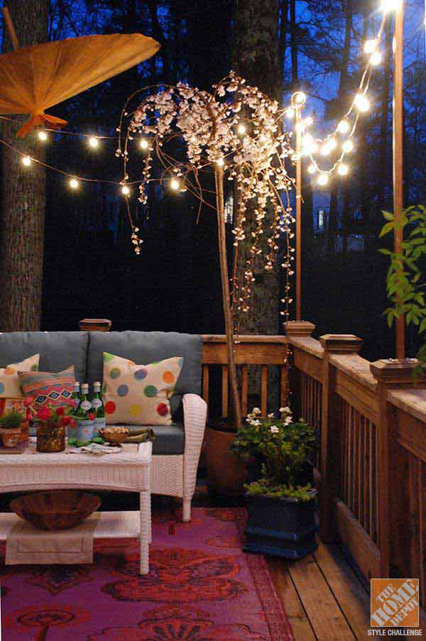 26 Breathtaking Yard and Patio String lighting Ideas Will ... on Backyard String Lights Diy  id=70717