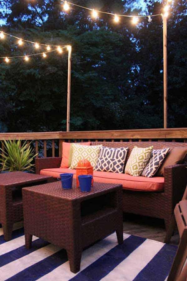 26 Breathtaking Yard and Patio String lighting Ideas Will ... on Backyard String Lights Diy  id=36204