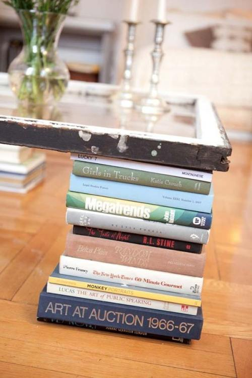 Books as Decoration Book Decor Home Library DIY Project Coffee Table Repurposed Wood