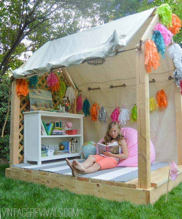 25 Playful DIY Backyard Projects To Surprise Your Kids ... on Diy Backyard Remodel id=99129
