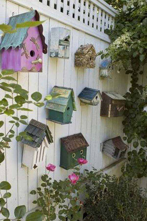 Top 23 Surprising DIY Ideas To Decorate Your Garden Fence ... on Backyard Wall Decor Ideas  id=23127