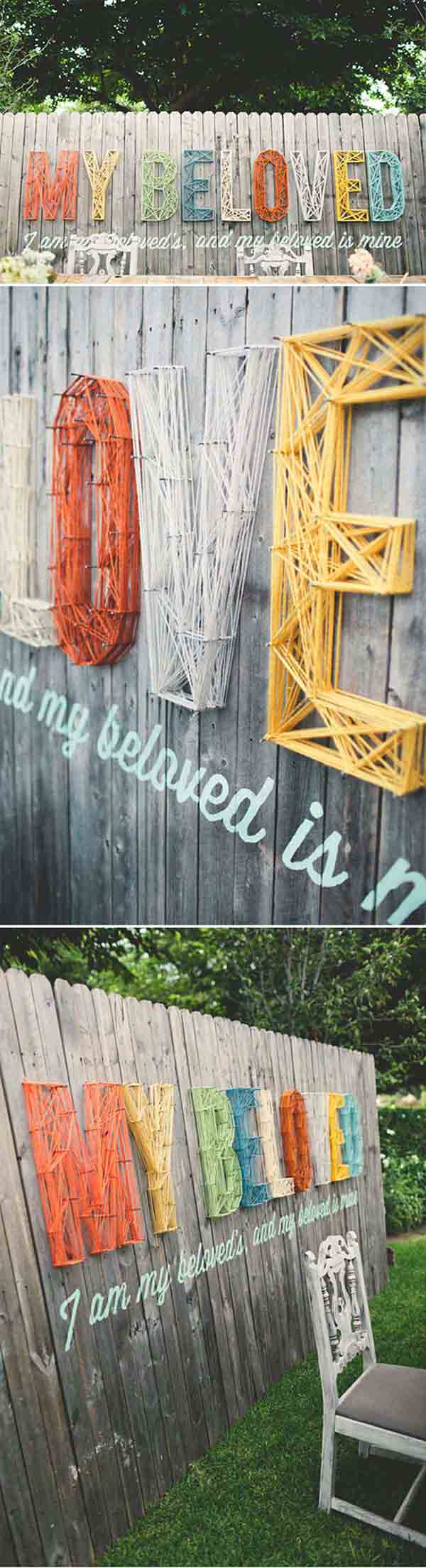 Top 23 Surprising DIY Ideas To Decorate Your Garden Fence ... on Backyard Wall Decor Ideas  id=41031