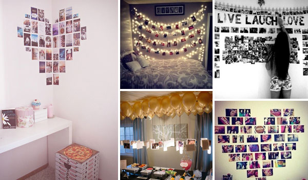 Top 24 Simple Ways to Decorate Your Room with Photos ... on How To Decorate Your Room  id=15054