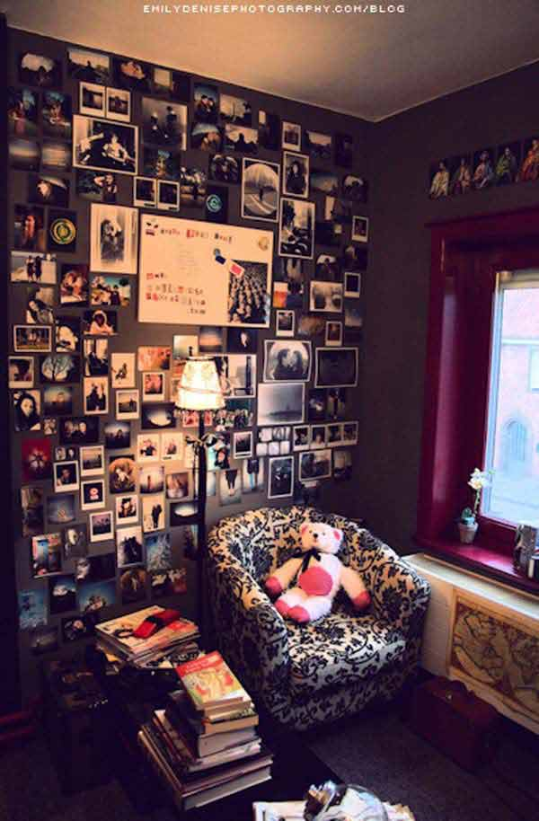 Top 24 Simple Ways to Decorate Your Room with Photos ... on Cheap:l2Opoiauzas= Bedroom Ideas  id=26097