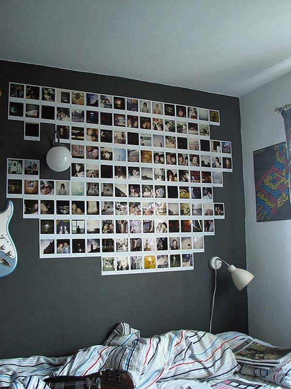 Top 24 Simple Ways to Decorate Your Room with Photos ... on Cheap:l2Opoiauzas= Bedroom Ideas  id=87200