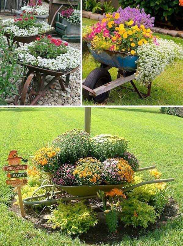 34 Easy and Cheap DIY Garden Pots You Never Thought Of ... on Backyard Patio Landscaping id=65725