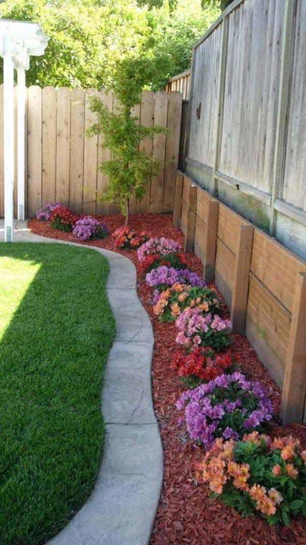 Top 28 Surprisingly Awesome Garden Bed Edging Ideas ... on Backyard Border Ideas id=50927