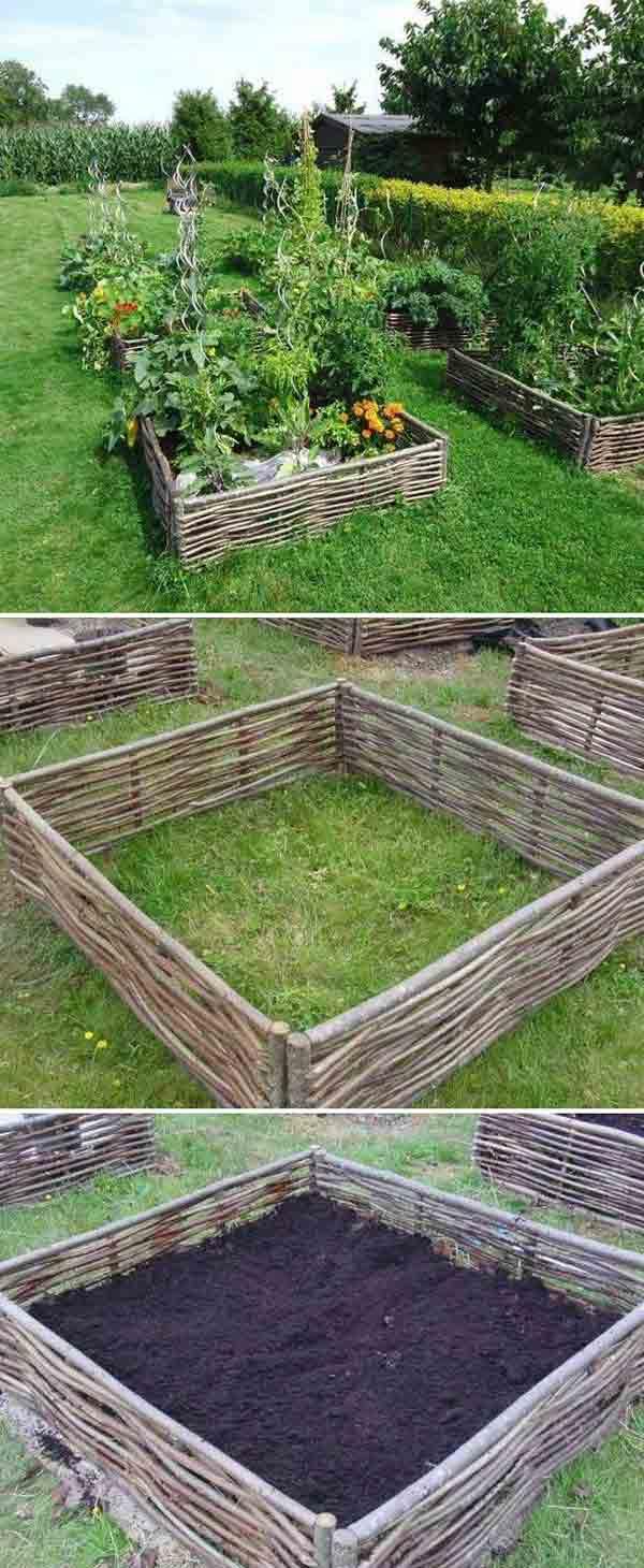 Top 28 Surprisingly Awesome Garden Bed Edging Ideas ... on Backyard Border Ideas id=89364