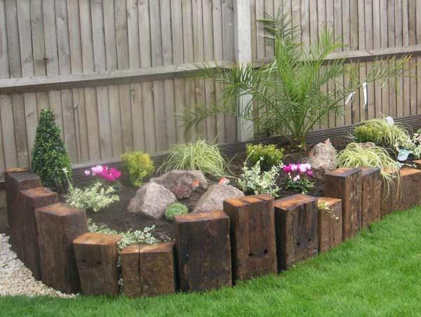 Top 28 Surprisingly Awesome Garden Bed Edging Ideas ... on Backyard Border Ideas id=45782