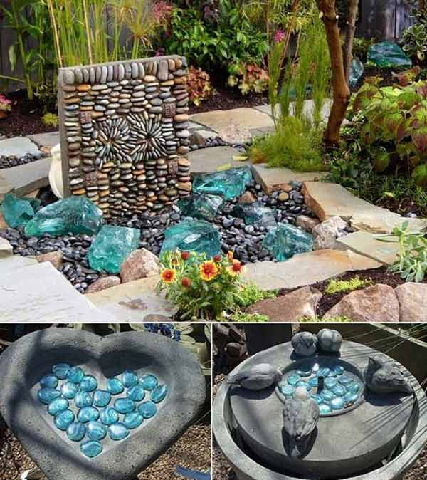 21 Lovely DIY Ideas To Spice Up Garden with Pebbles Art ... on Backyard Pebbles Design id=92506