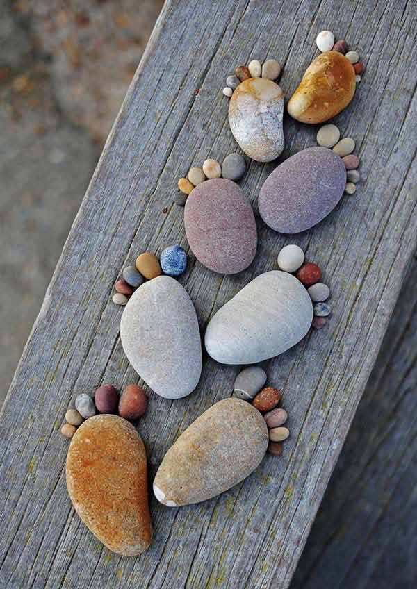 21 Lovely DIY Ideas To Spice Up Garden with Pebbles Art ... on Pebble Yard Ideas id=33560