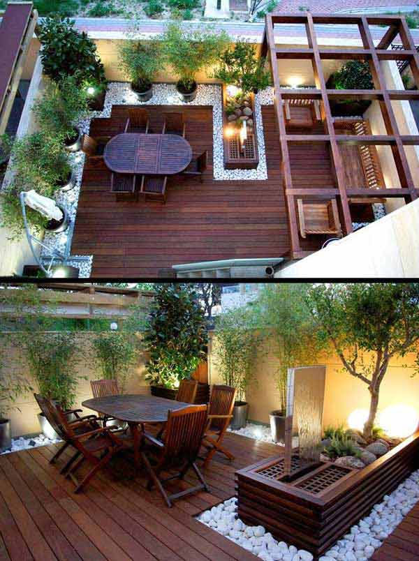 31 Insanely Cool Ideas to Upgrade Your Patio This Summer ... on Patio With Deck Ideas id=19439